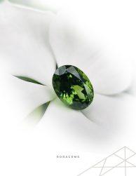 Green Zircon Gemstone from Sri Lanka Roragems