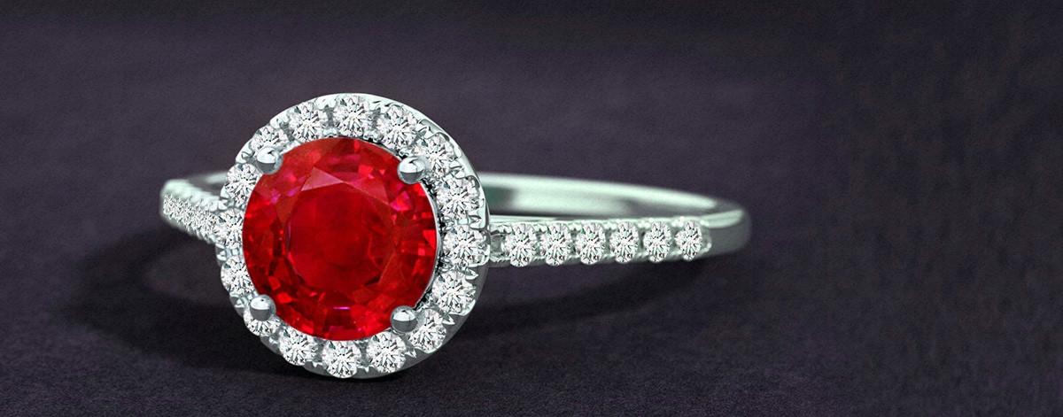 Ruby Gems Jewellery Ring Jewelry With Rubies