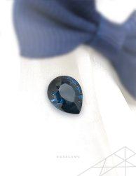 Certified gemstone online - gray purple blue spinel - rora gems